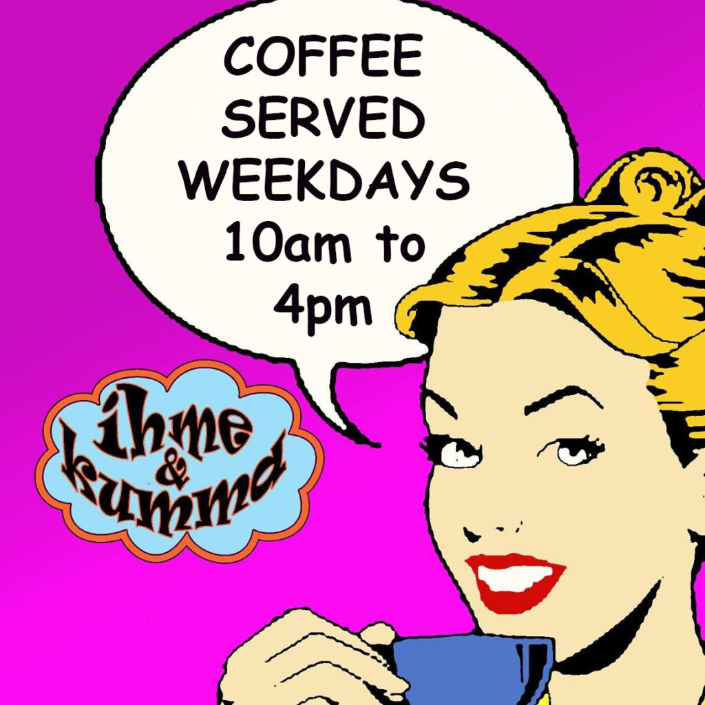 Coffee served in the city lounge weekdays from 10am to 4pm